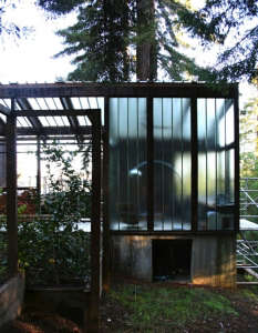 Lundberg cabin office channel glass ; Gardenista