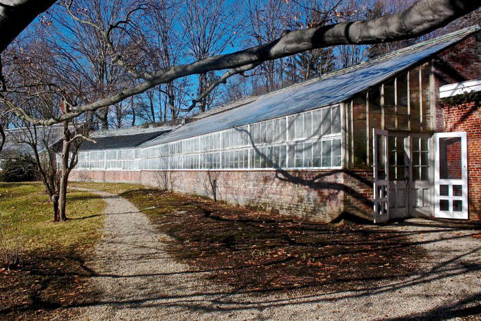 Lyman Estate Waltham, MA, greenhouse exterior