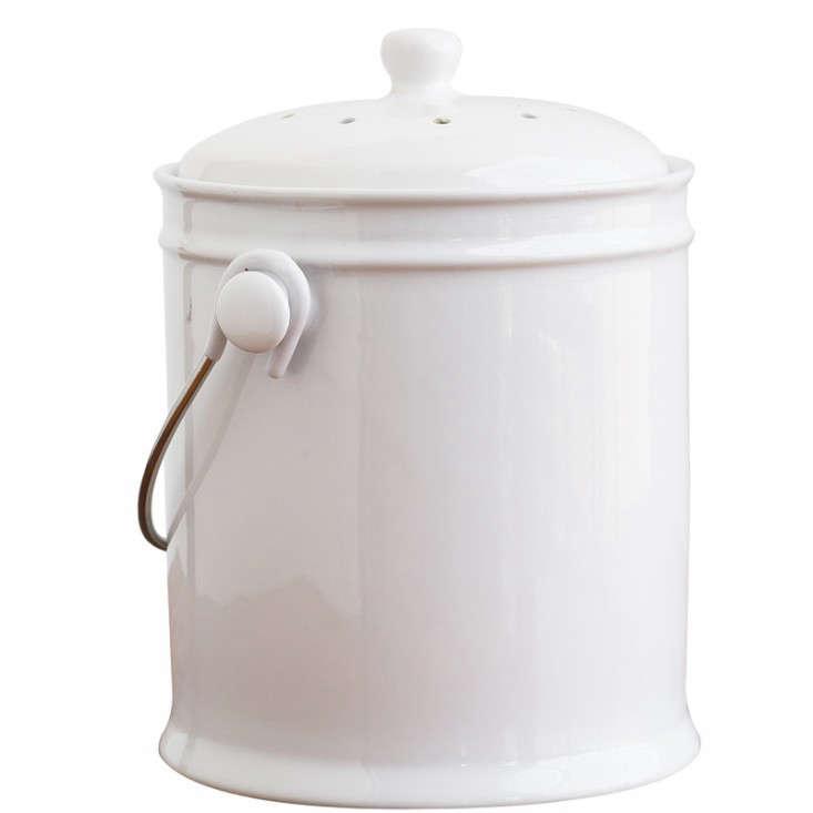 White Ceramic Compost Bin Gardenista