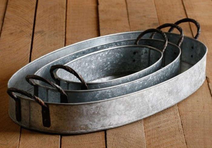 10 Easy Pieces Galvanized Trays Gardenista