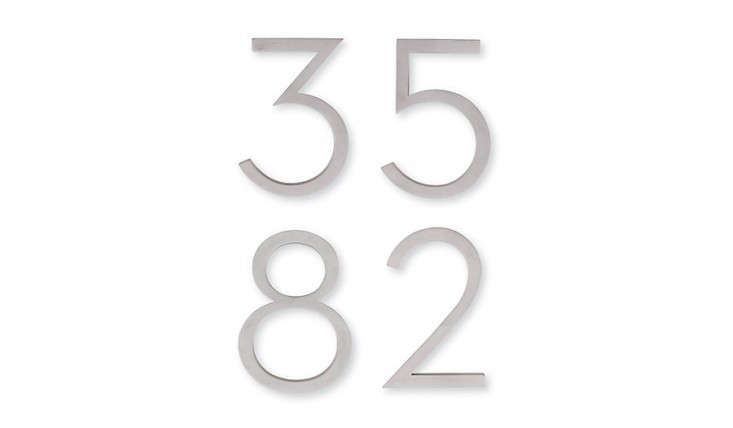 Neutra House Numbers from DWR, Gardenista