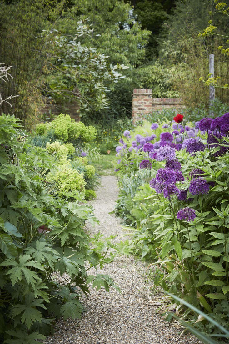 How to make a garden path with gravel - Pea Gravel Patio Path Perch Hill Farm_sarah Raven