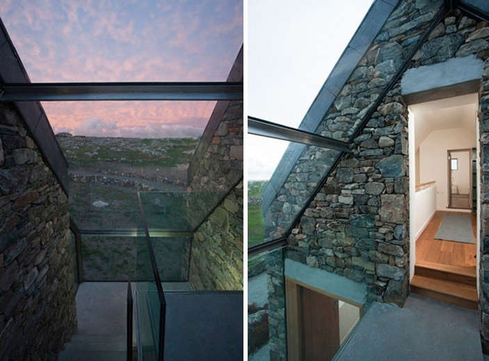 Peter-legge-connemara-stone-cottages-connected-by-walkway-gardenista