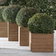 Reclaimed-French-Oak-Square-Planters-Gardenista