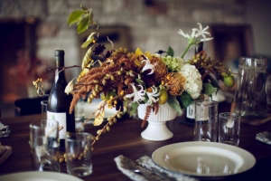 Gardenista Fall tablescape with Schoolhouse Electric