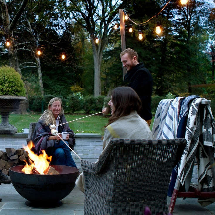 Roasting Marshmallows with Holiday Globe Lights from Terrain, Gardenista
