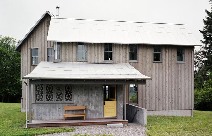 Roy-McMakin-Vashon-House-Yellow-Dutch-Door