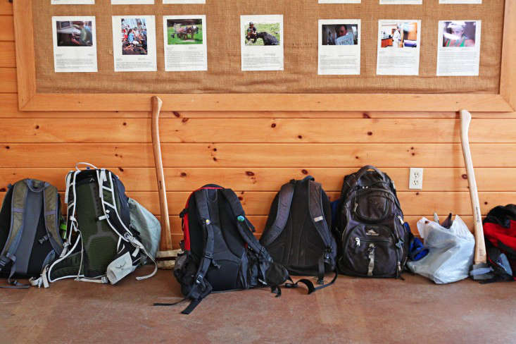 Sterling College Craftsbury Vermont, student pack packs and axes, by Justine Hand for Gardenista