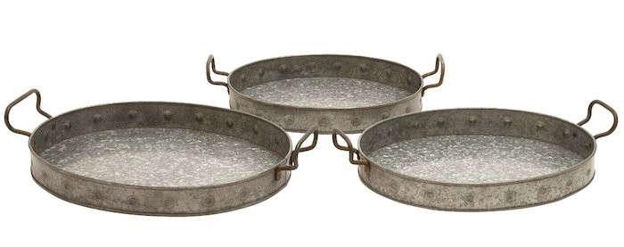 Three-Round-Galvanized-Trays-Gardenista