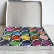 WC-Water-Color Paints-Made From-Flowers with-Travel-Case-Remodelista