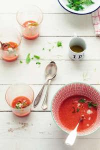 Watermelon Gazpacho ; Gardenista