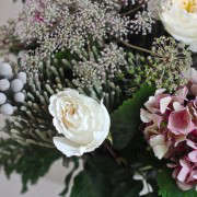 Winter Romanc Bouquet with Silver Brunia detail