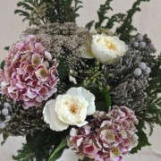Winter Romance Bouquet with Silver Brunia, finished