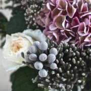 Winter Romance Silver Brunia Bouquet detail