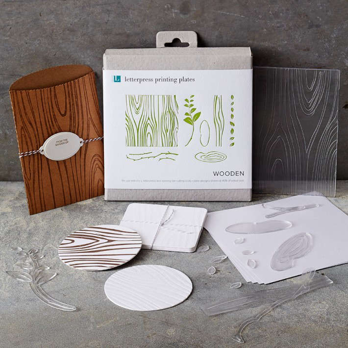 Wooden Letterpress Printing set