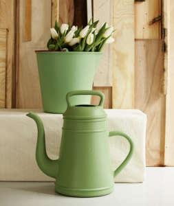 Xala Belgian bucket and watering can; Remodelista