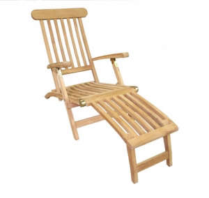 Amazon teak steamer chair ; Gardenista