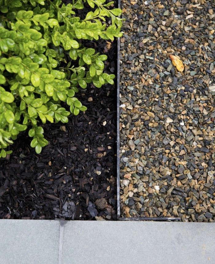 Metal Landscape Edging Black Mulch Bluestone Gravel By Nicole Franzen