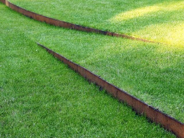 Rust never sleeps 8 surprising ways to use steel in the - Garden metal edging strip ...