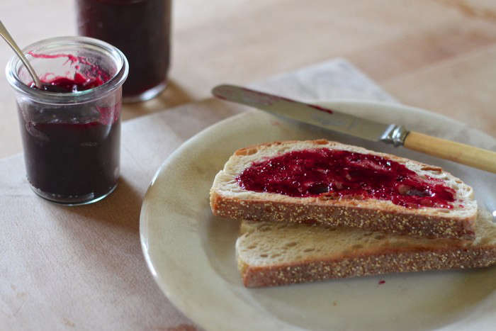 beach plum jam and toast