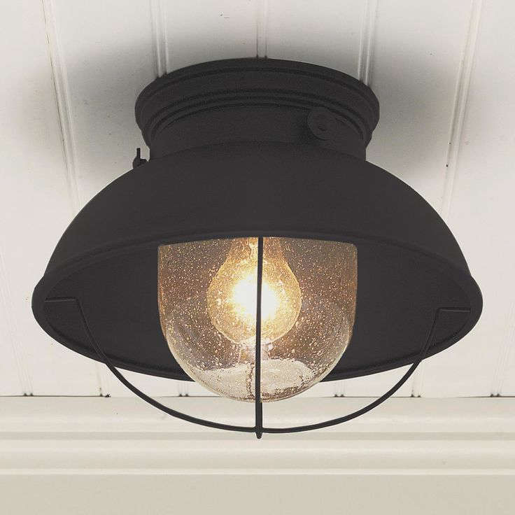 Black Ceiling Lights: 10 Easy Pieces: Black Porch Ceiling Lights: Gardenista