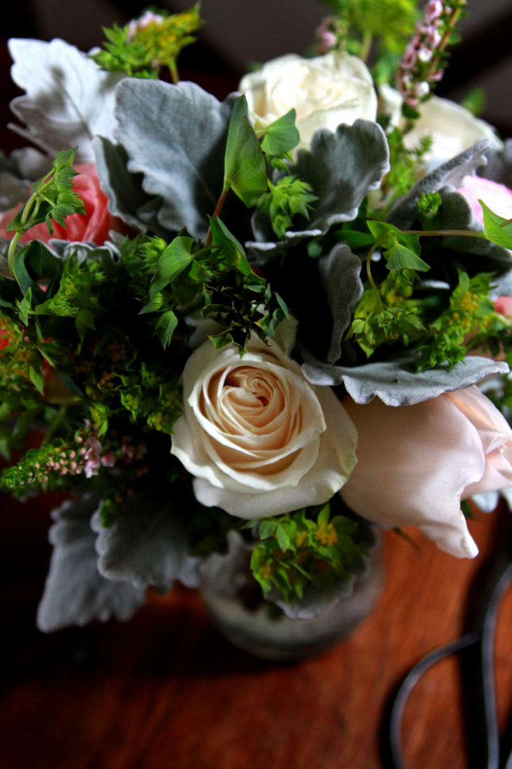 bouquet with white rose