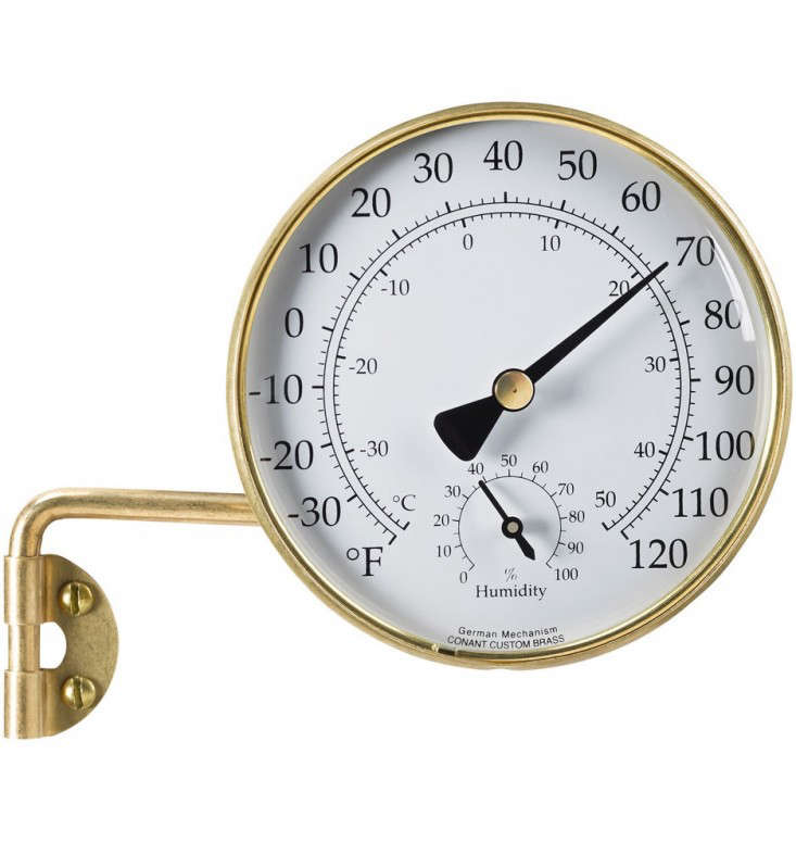 brass outdoor weather station l Gardenista