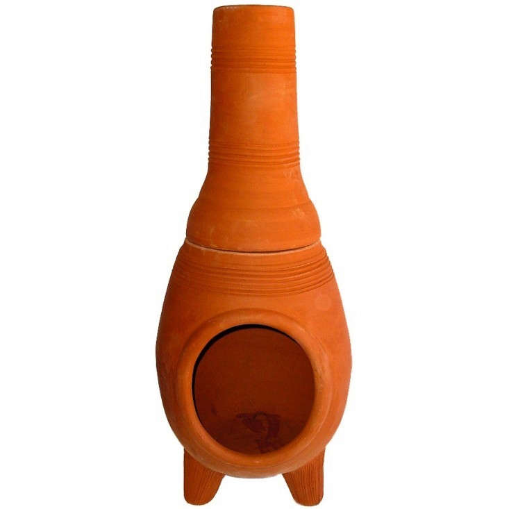 10 easy pieces chimineas gardenista for Terracotta chiminea