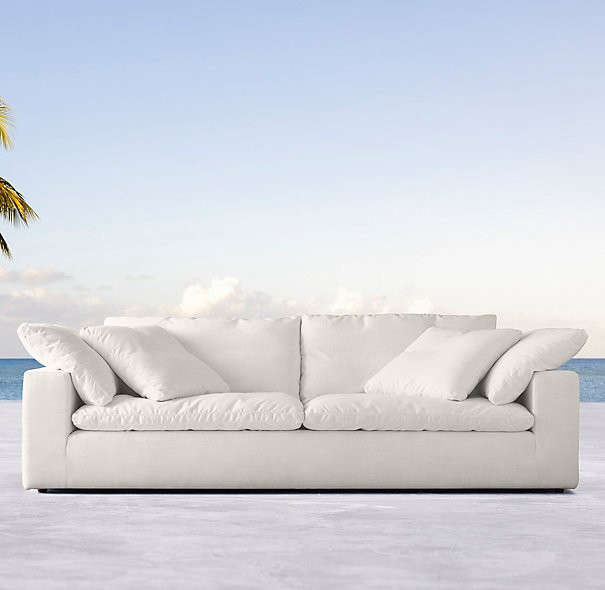 rh cloud sectional 108 in cloud track arm outdoor sofa 1963