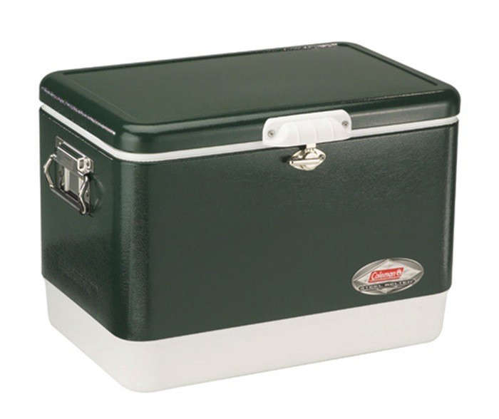 coleman-steel-belted-cooler-green