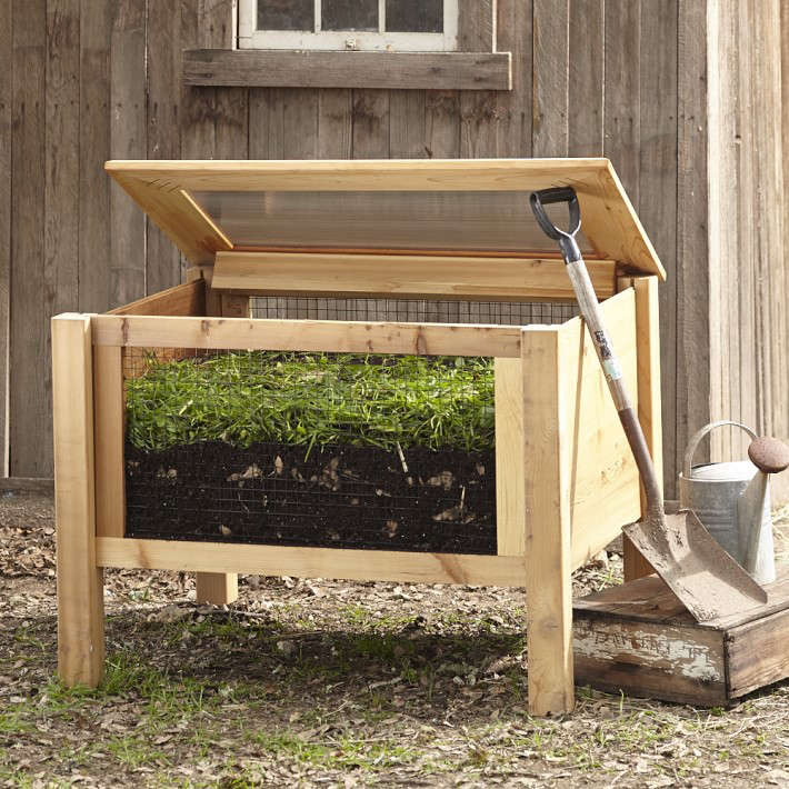 10 easy pieces wood compost bins gardenista. Black Bedroom Furniture Sets. Home Design Ideas