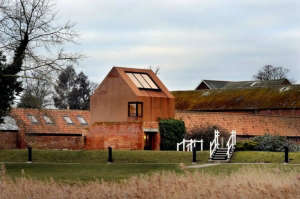 Corten Steel and Brick Music Studio in England | Gardenista