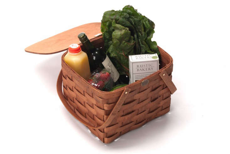 covered picnic basket