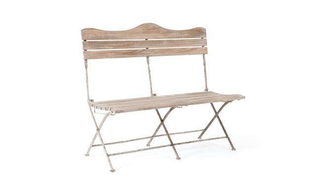 cox and cox folding two seater outdoor bench
