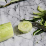 cucumber peeled and chopped