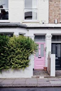 Curb Appeal Pink Front Door paint colors ; Gardenista