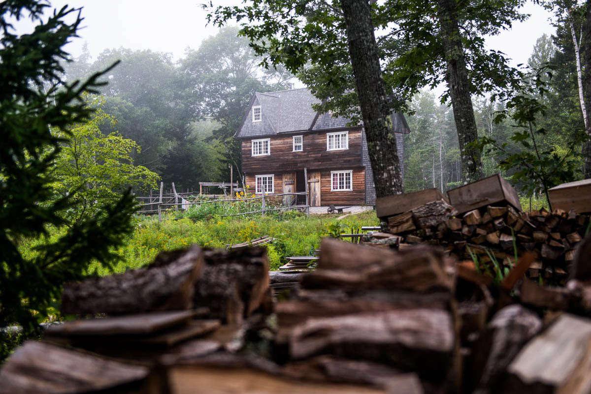 deer-isle-hostel-kitchen-garden-firewood-gardenista