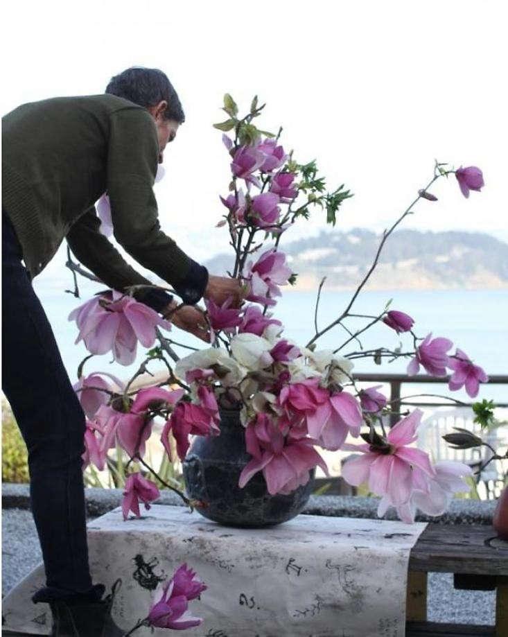 diy-ikebana-magnolia-floral-arrangement-gardenista