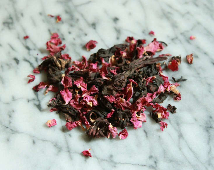 dried hibiscus and rose
