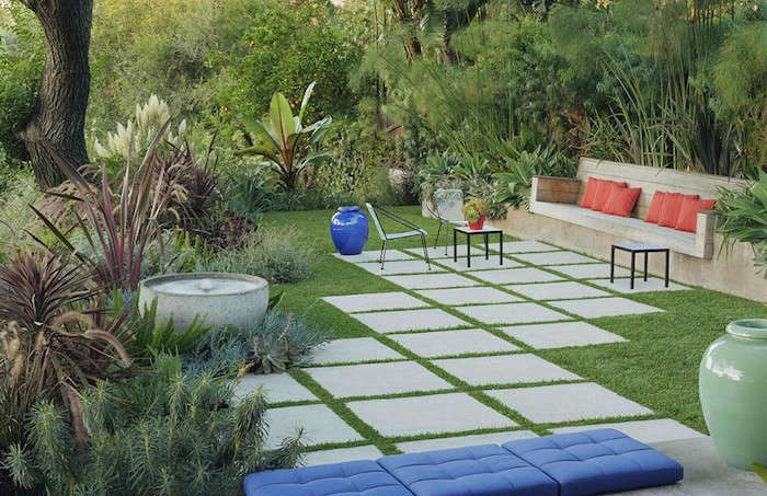 Hardscaping 101: Concrete Pavers - Gardenista on Backyard Ideas Concrete And Grass id=68020