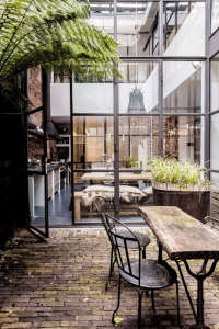 factory windows amsterdam garden maurius haverkamp ; Gardenista