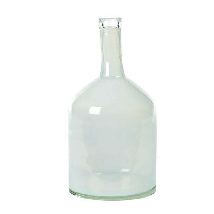 fat bottle vase in milky white