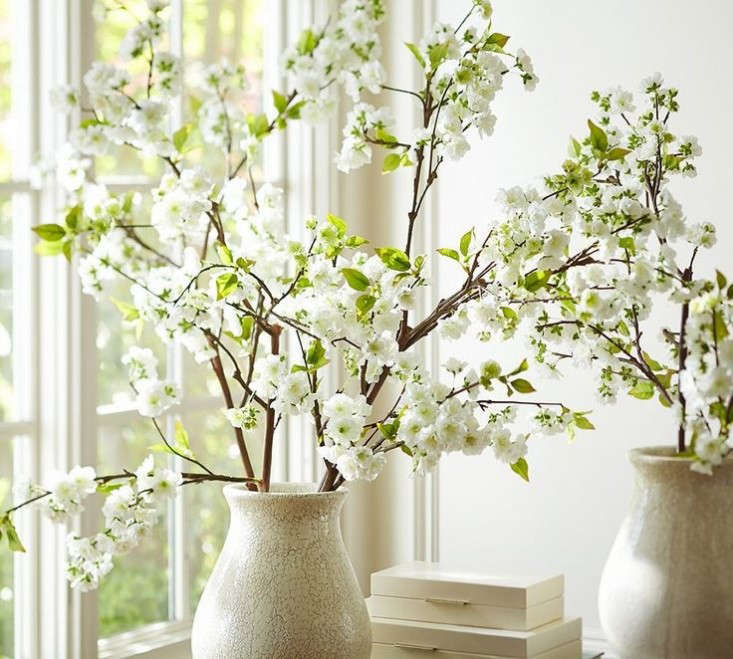 faux-branch-cherry-blossoms-pottery-barn-gardenista