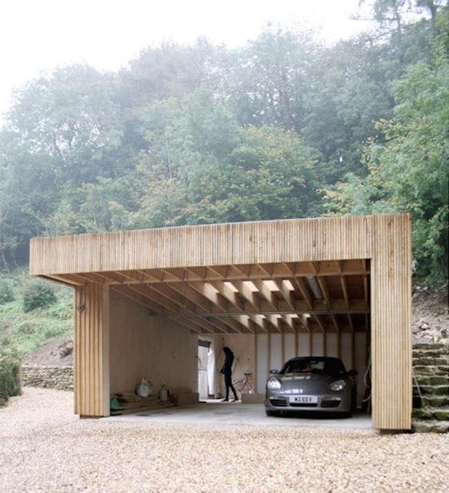 Hillside Plan With Garage Under 69131am: Upstairs, Downstairs: A Workshop And Garage Hidden In A