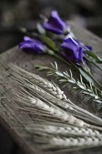 fowlers flowers rosemary and grasses via Gardenista
