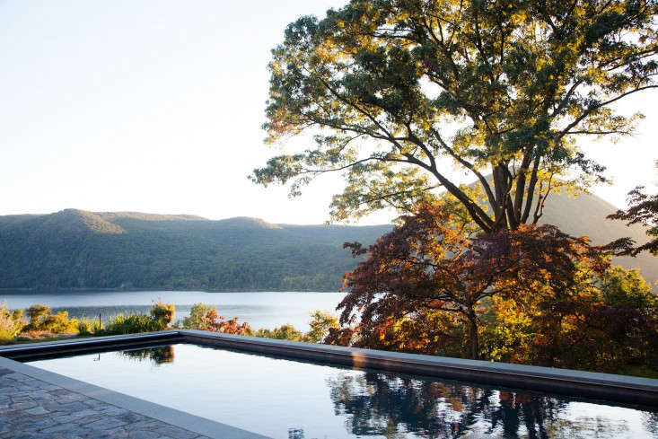 grace kennedy swimming pool in autumn l Gardenista