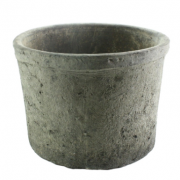 greige clay pot