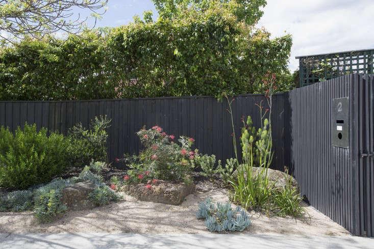 grounded-gardens-melbourne-australia-black-fence-front-gate-gardenista