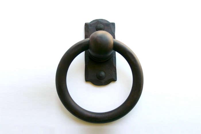 heavy-forged-wrought-iron-door-ring-gardenista