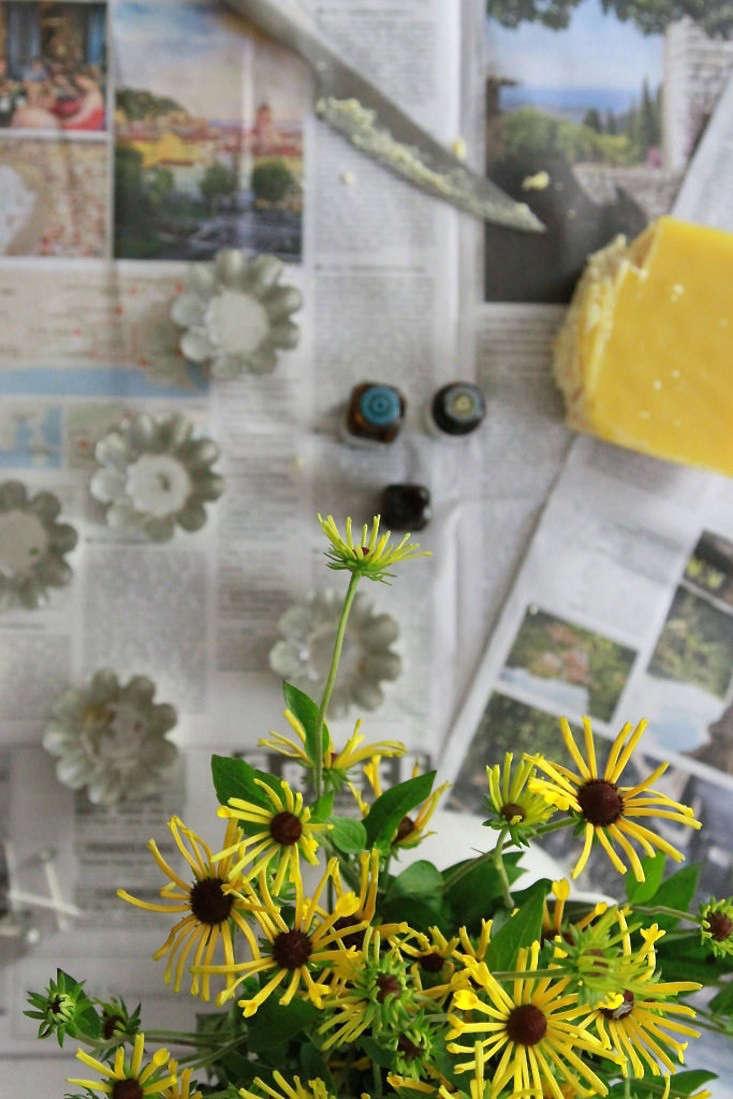 insect-repellent-tea-lights-supplies-overhead-erin-boyle-1-gardenista